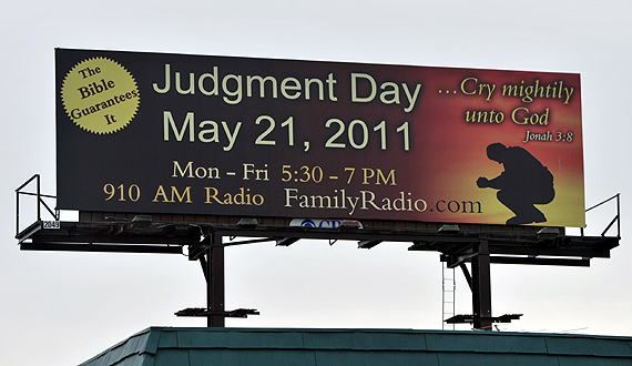 may 21 judgement day. the May 21st Judgment Day