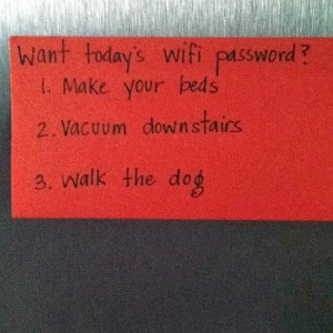 Want Todays WiFi Password?