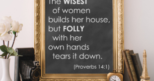 Weekend Wisdom – Proverbs 14:1