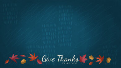 Photo of It Is Good to Give Thanks